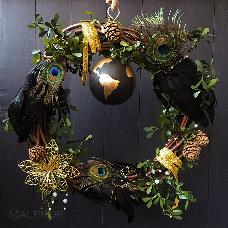 KLC and Malphor Christmas Wreath
