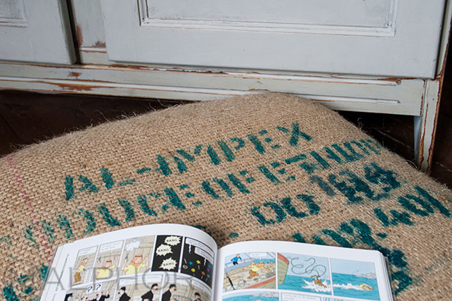 Grain Sack Floor Cushion